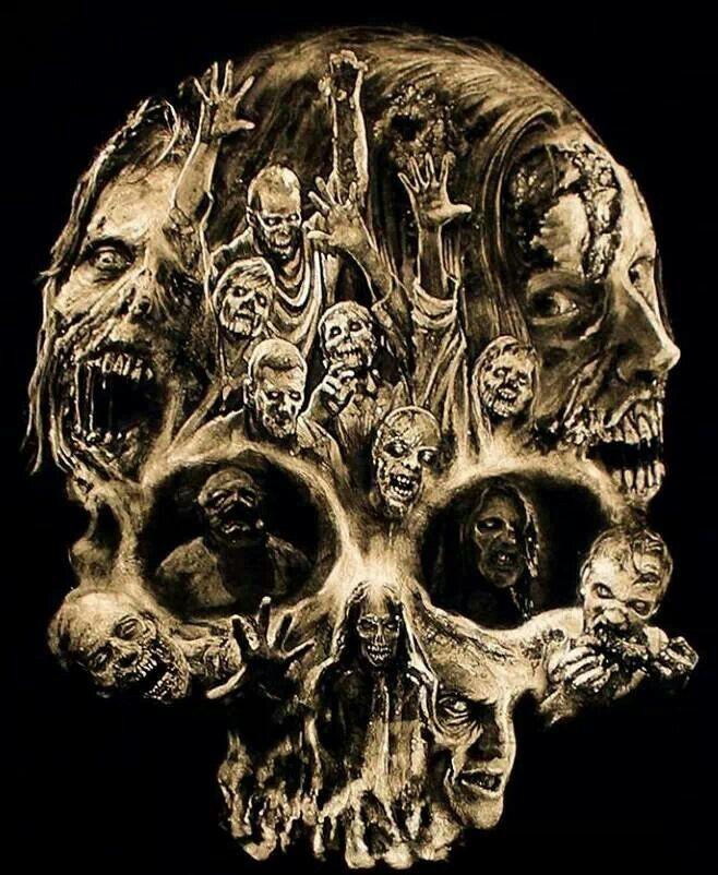 Pin by Dayan Miller on Skulls Walking dead art