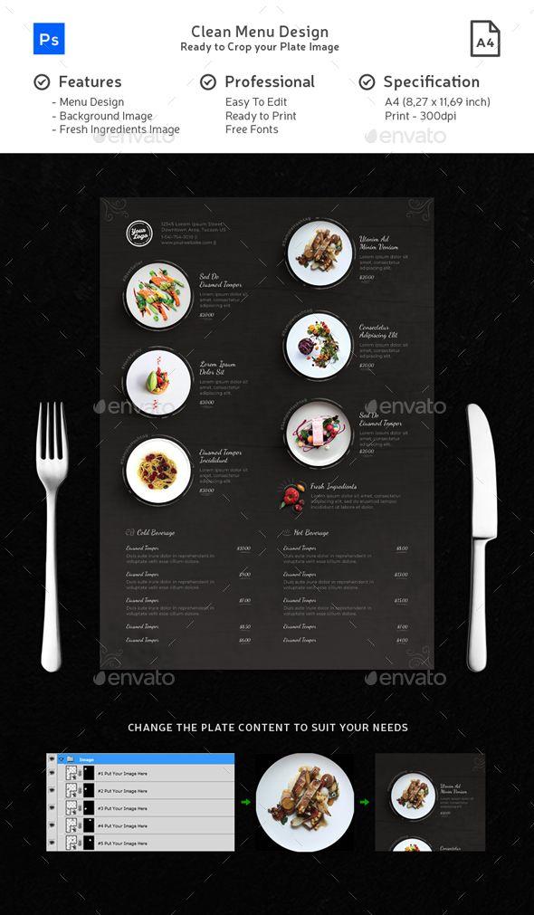 food plate clean menu chalk playful best food menu templates