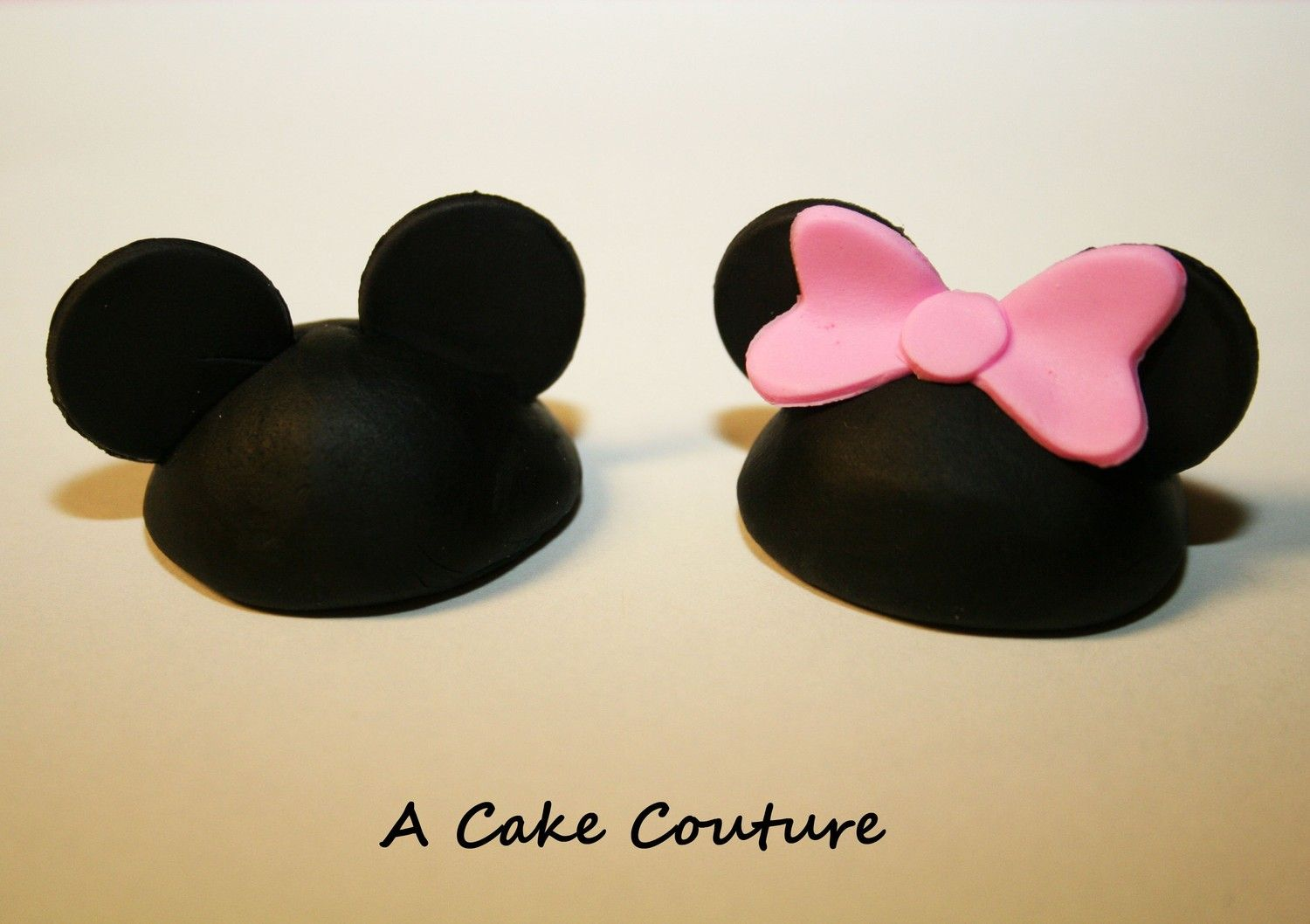 Mickey And Minnie Mouse Ears Hat Cupcake Topper 1 Dozen