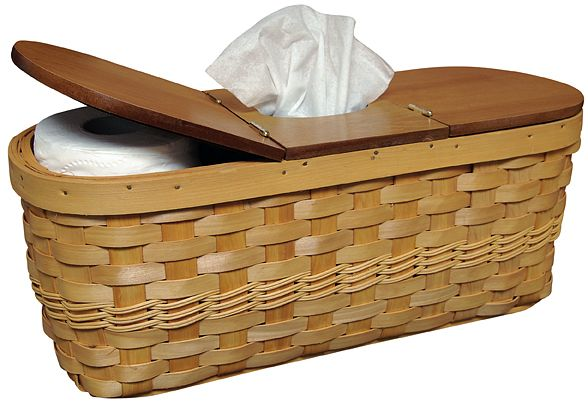 This Basket Will Hold A Of Spare Rolls Toilet Paper And Boutique Box Tissues Fit On The Back Your Tank