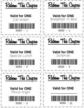 FREE printable gift coupons to give as gifts! Fun for the kids ...