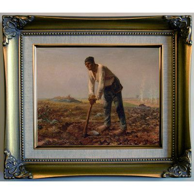 Historic Art Gallery 'Man with a Hoe 1860' by Jean-Francois Millet Framed Painting Print