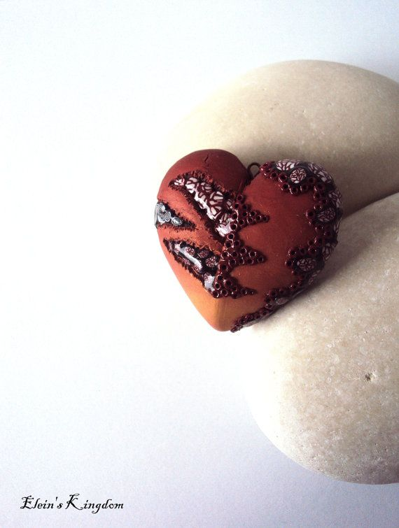 Handmade Ombre Bronze Abstract Heart Handmade by EleinsKingdom, $25.00