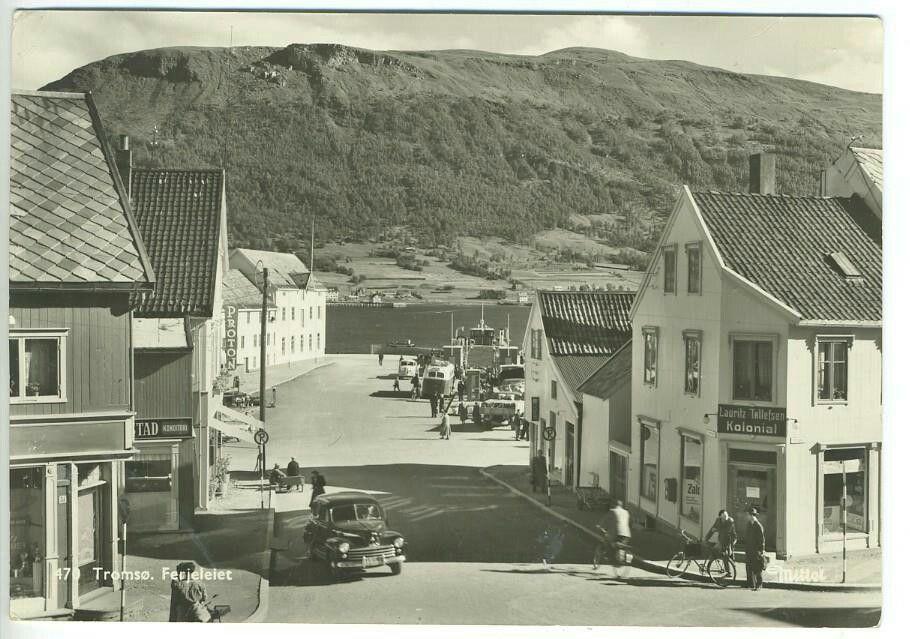 Troms fylke Tromsø Ferjeleiet på 1950-tallet utg Mittet