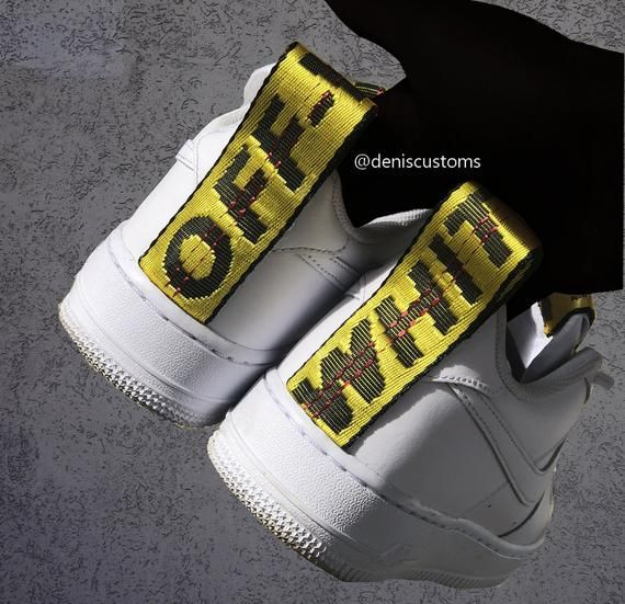 the best attitude fe9dd 99446 Off White Nike Air Force 1 Strap Custom v roce 2019   Custom ...