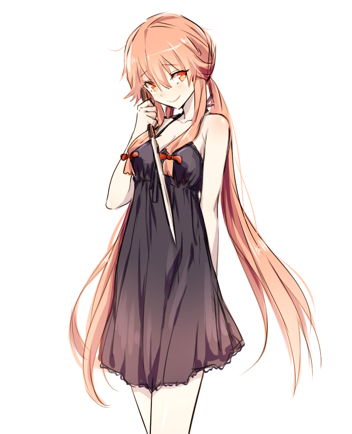 """""""Yuno can look so natural by holding a knife. Mirai Nikki"""