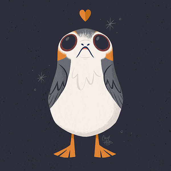 Caley Hicks May The Porg Be With You In 2020 Star Wars Art Star Wars Fan Art Star Wars Fandom
