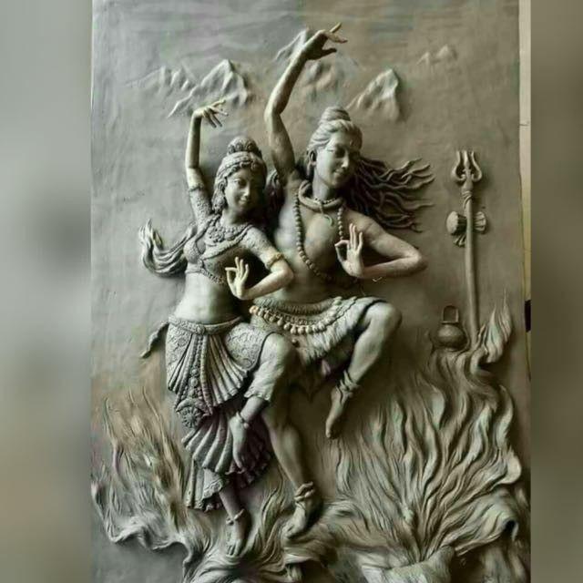 Shiva & Shakti | Shiva art, Art, God art