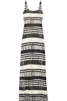 Thakoon  Striped printed jersey maxi dress  £725