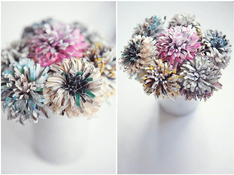 Recycled Magazine Projects Projects To Try Paper Flowers Diy