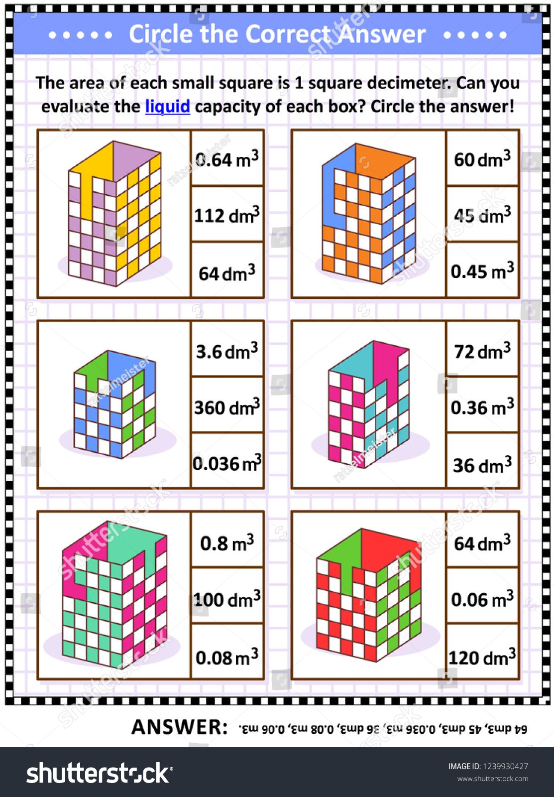 Math Skills And Iq Training Visual Puzzle Or Worksheet