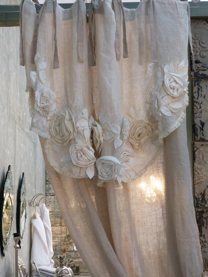 Le bellissime tende di Blanc Mariclò negli arredamenti Shabby Chic ...
