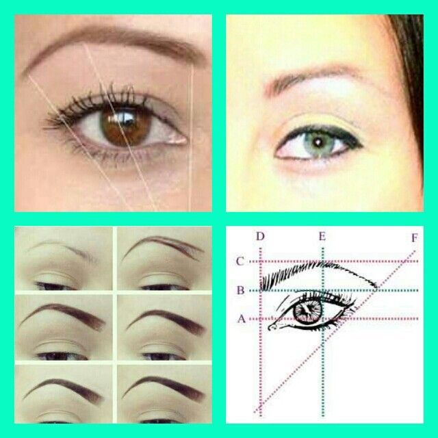 Eyebrows:top right: perfect, top left: NOT QUITE, bottom ...