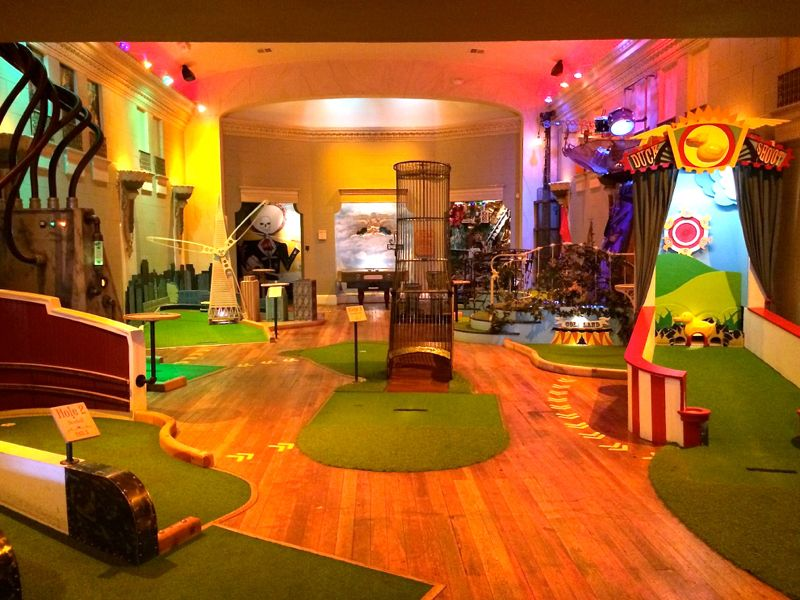 Mini Golf At Urban Putt San Francisco California
