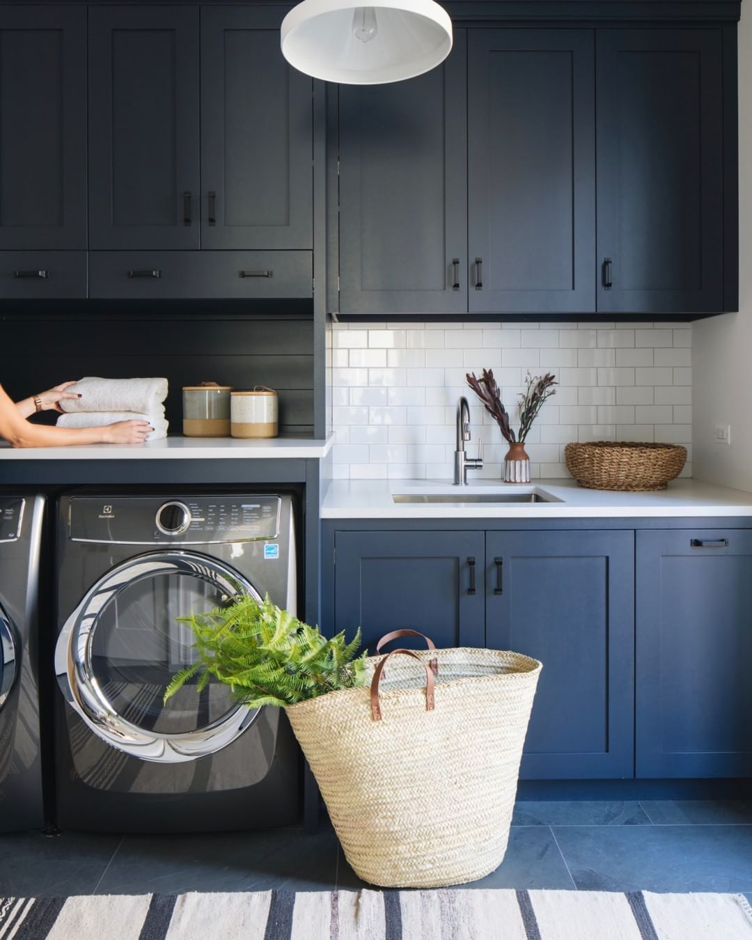 Seattle Kitchen And Mudroom Remodel: Blue Laundry Rooms, Mudroom Laundry Room, Laundry
