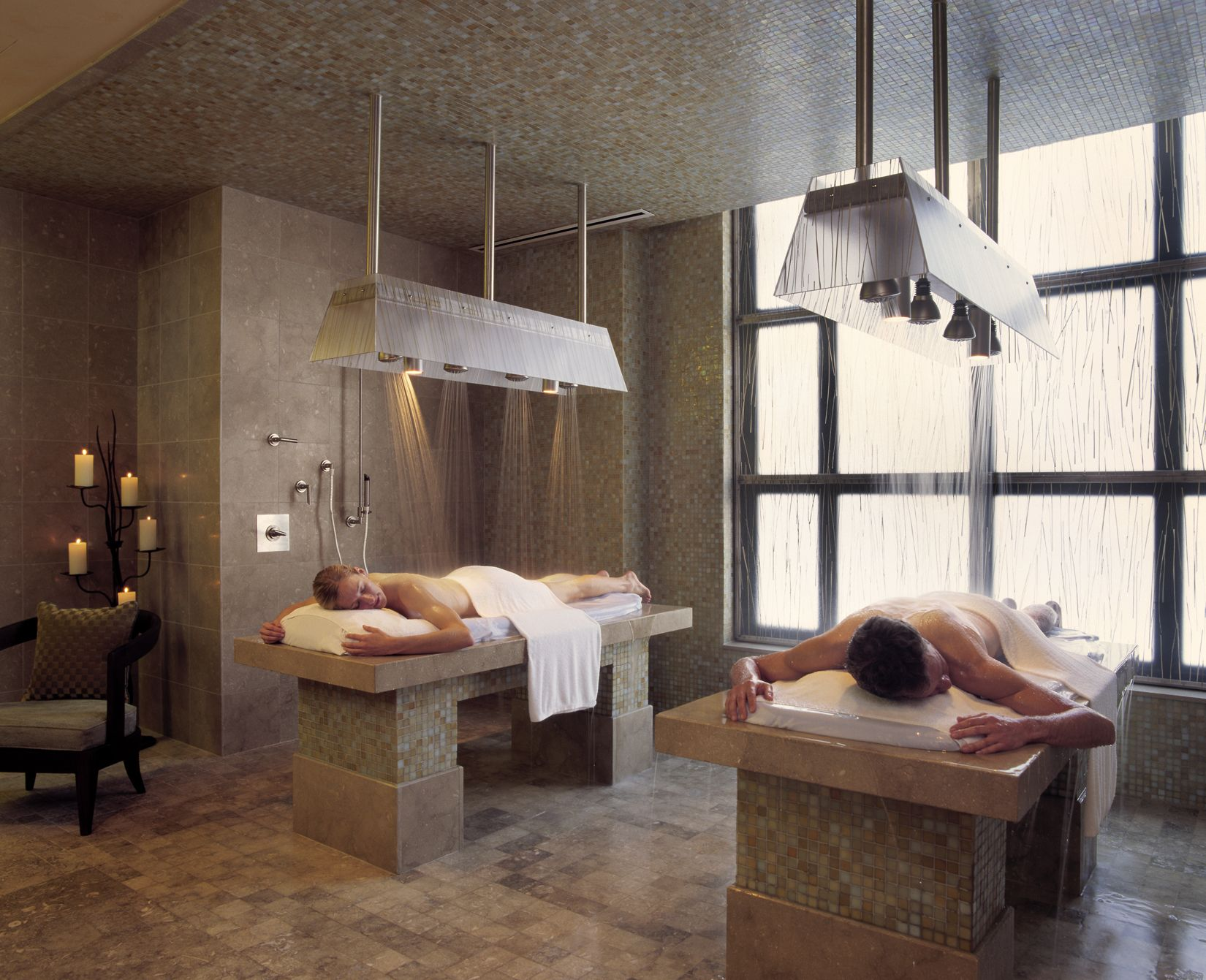 this couples vichy shower treatment at allegria spa is oh. Black Bedroom Furniture Sets. Home Design Ideas