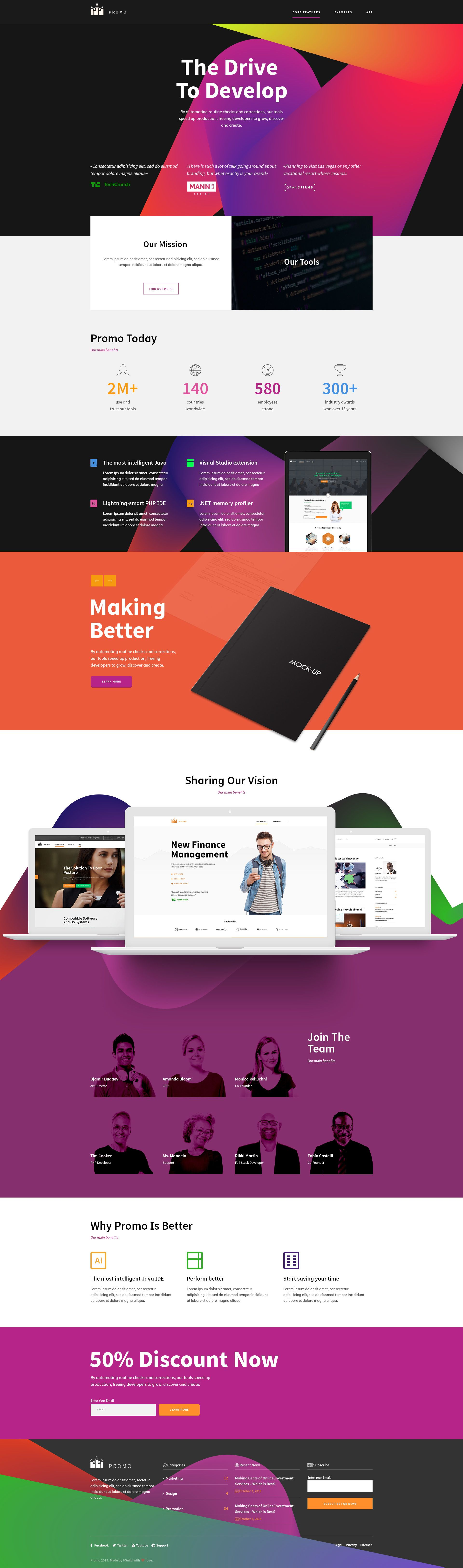 PROMO - Corporate Marketing PSD Template | All web | Pinterest ...