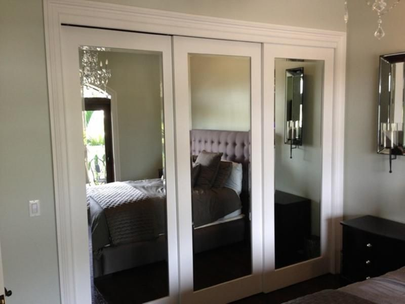 Decoration Sliding Mirror Closet Doors Makeover With Mirrored