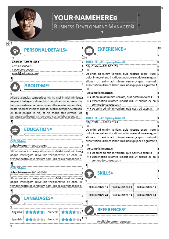Hongdae Editable Modern Resume Template For Ms Word  Mm