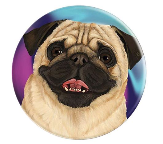 6f919ab11d7 Pug Face -Cute Pug Dog on Tie Dye - PopSockets Grip and Stand for Phones  and Tablets This cute panting pug dog popsocket features a large image of a  painted ...