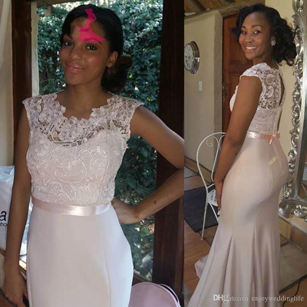 Plus size african wedding dresses   Vintage Burgundy Lace Stain Long Sleeve Mermaid Beach