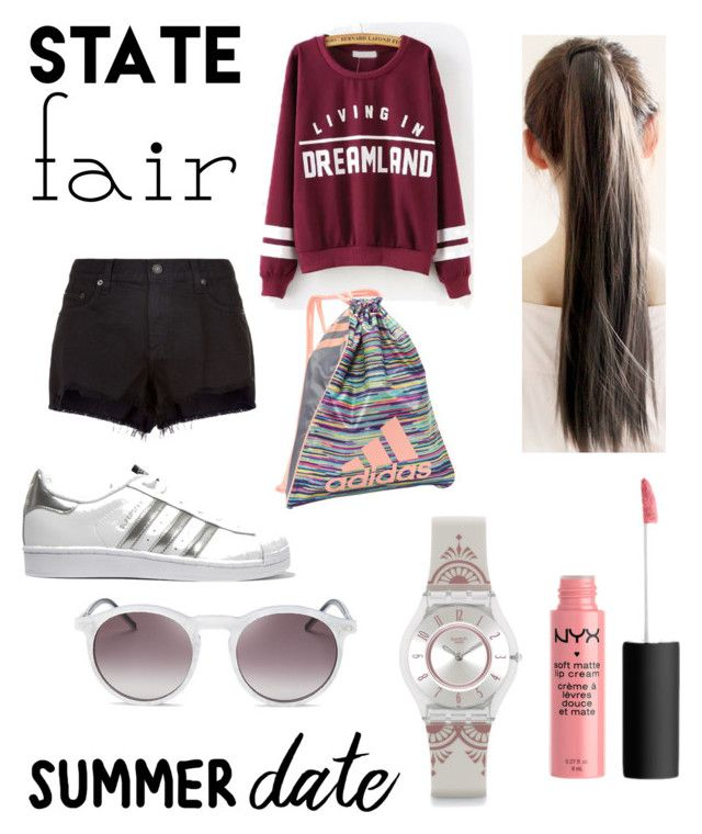 """""""Untitled #33"""" by ajengans on Polyvore featuring rag & bone, adidas Originals, adidas, Swatch and Wildfox"""