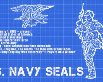 Navy Seals Poster Military Motivation Seal by FlashBangDesigns