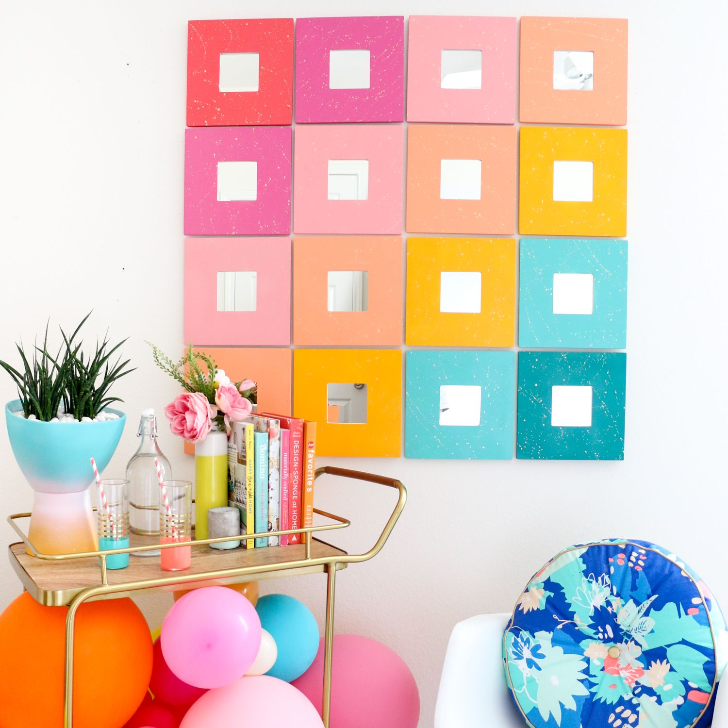 Diy splatter painted mirror wall art create with a kailo chic life