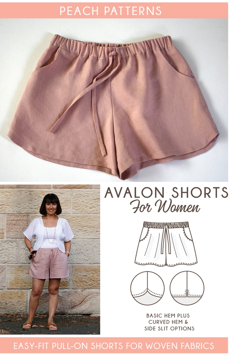 Avalon Shorts PDF Sewing Pattern for Women -   17 DIY Clothes No Sewing shorts ideas