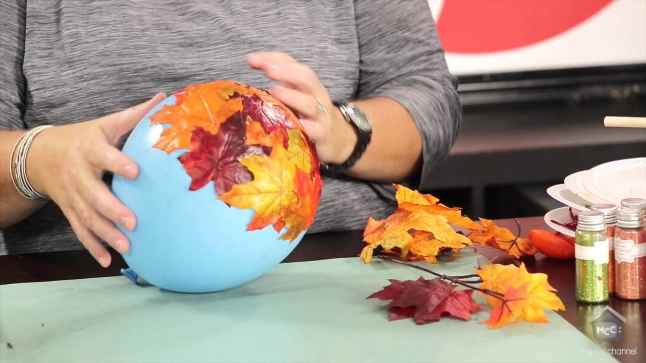 Inspired By Pinterest Crafting With Fall Leaves Youtube Crafts Diy