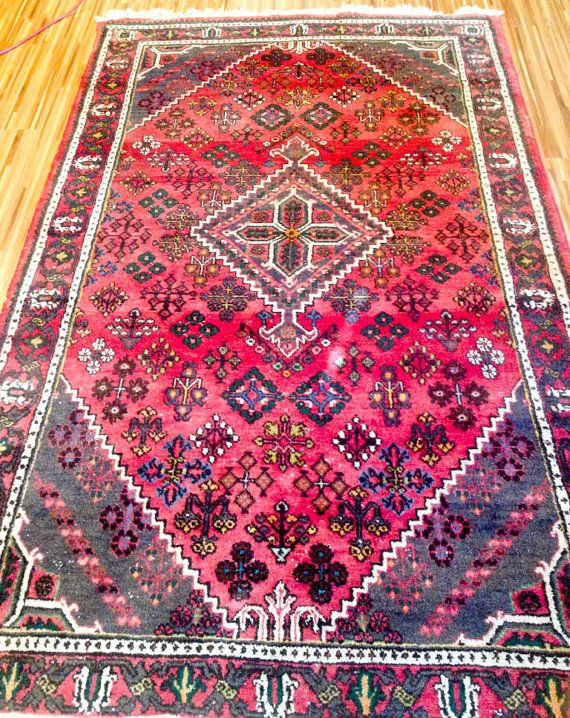Vintage Rug Persian Rug 9x6 rug Area rug 6x9 rug Neutral Rug Berber ...