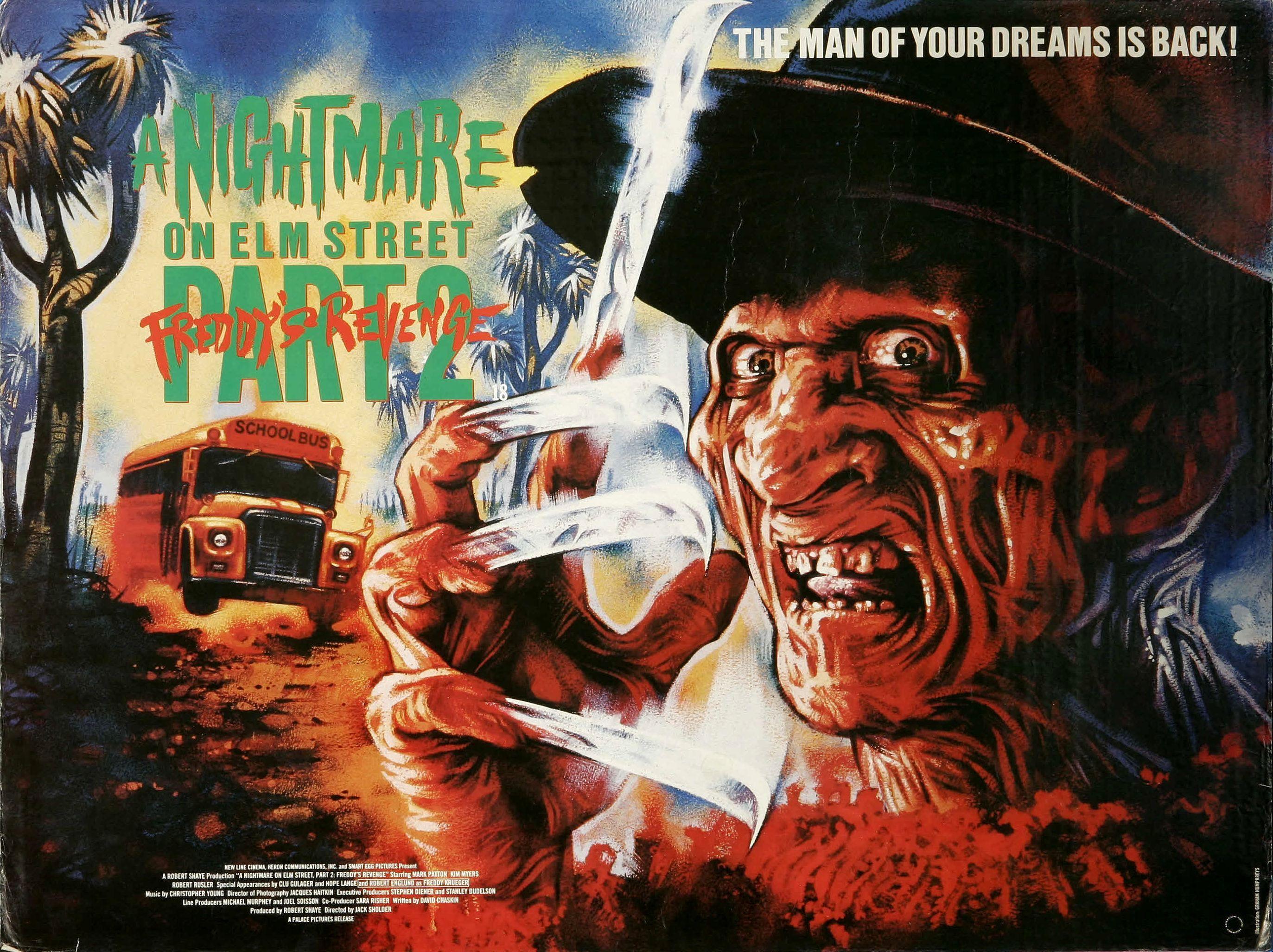 A Nightmare On Elm Street Part 2 Freddy S Revenge 1985 A Nightmare On Elm Street Nightmare On Elm Street Film Posters Vintage