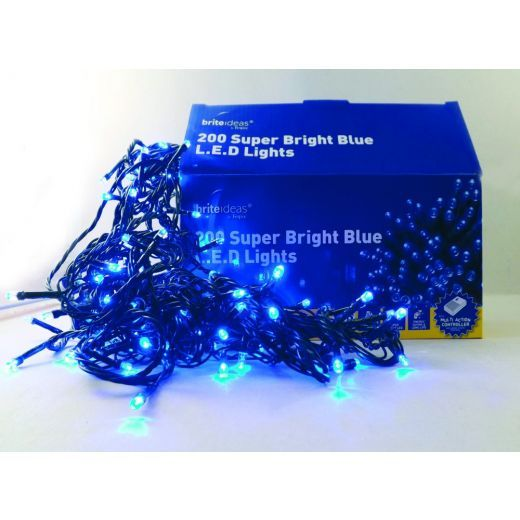 Brightideas super bright blue festive LED lights 200 lights per set