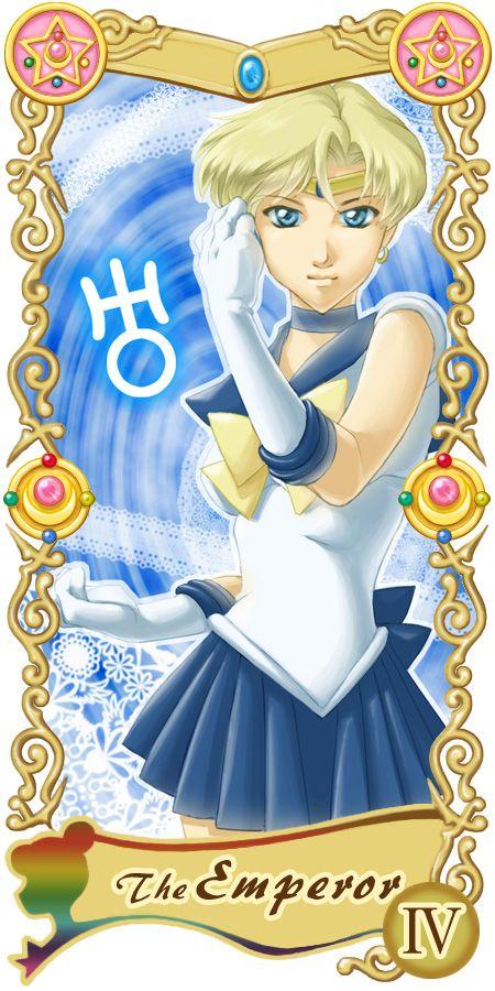 Pretty Guardian Sailor Moon Original Tarot Cards: IV - The Emperor | by Ryukia @ Pixiv.net // #sailormoon