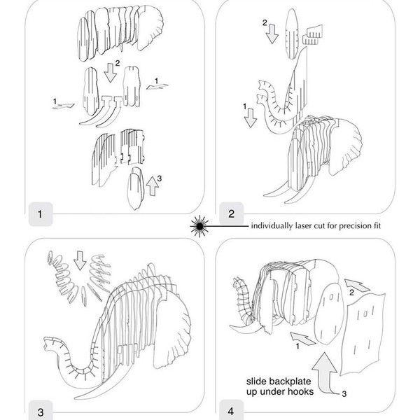 ram cardboard trophy head tutorial google search elephant