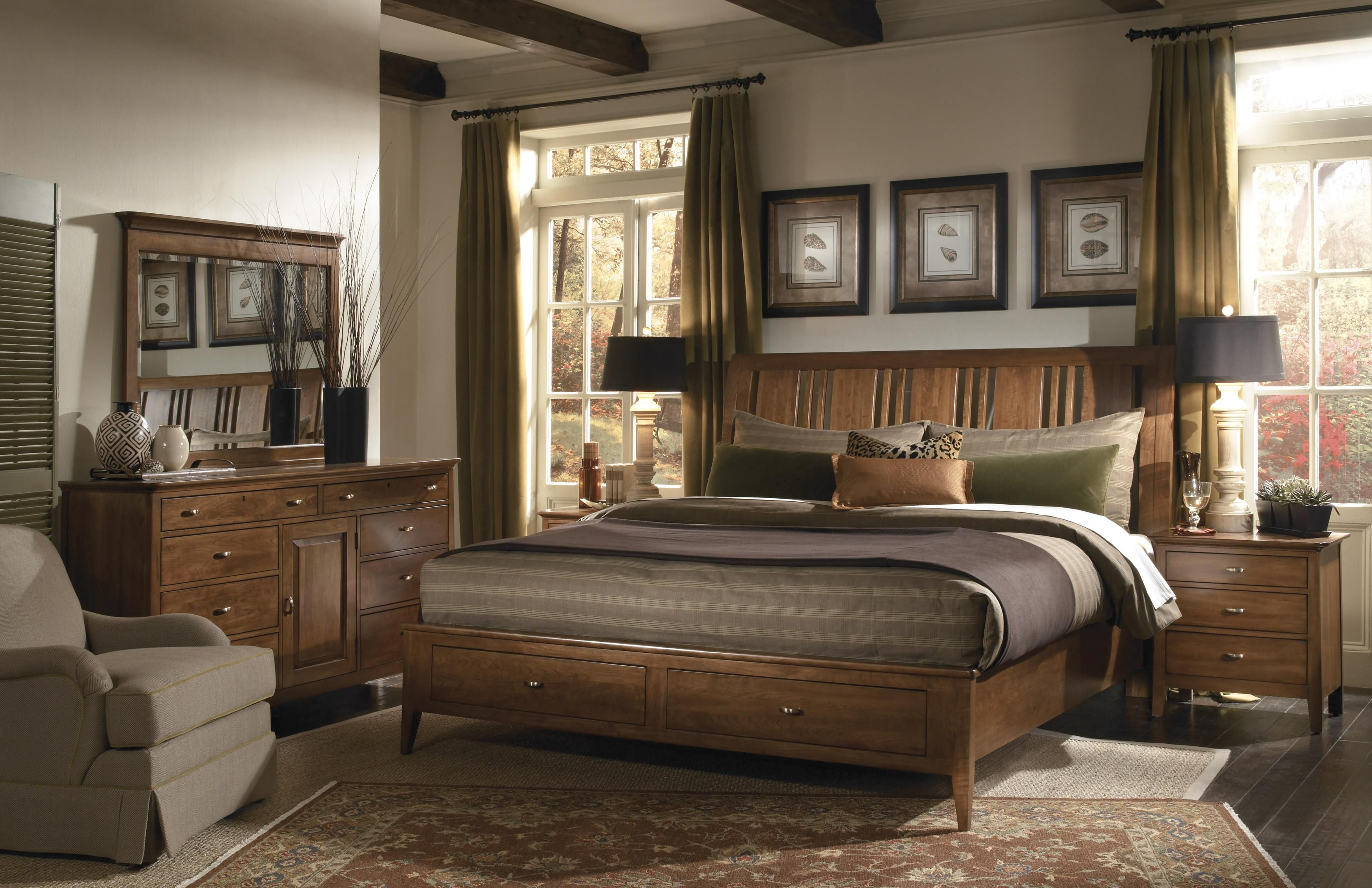 johnny park king janosik kincaid pin cherry by at group bedroom furniture