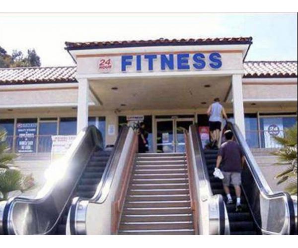 Un escalator pour aller la gym historicalpics ville for Aller a la piscine