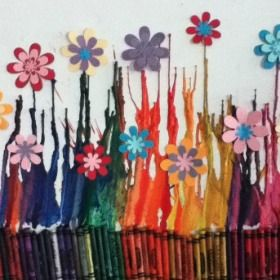 Melted Crayon Art  | 13 Amazing DIY Crafts and Recipes for Spring