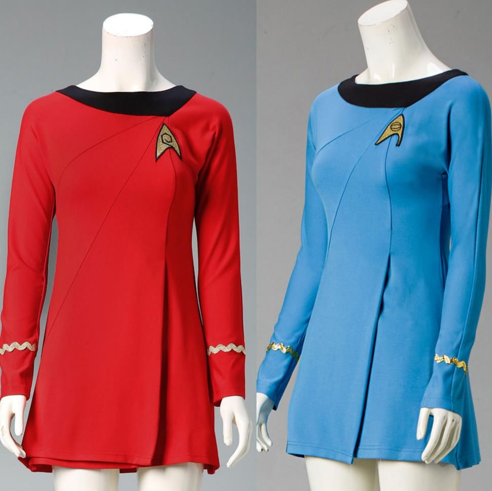 Star Trek TNG Female Duty Uniform Halloween Dress Cosplay Costume Color Red