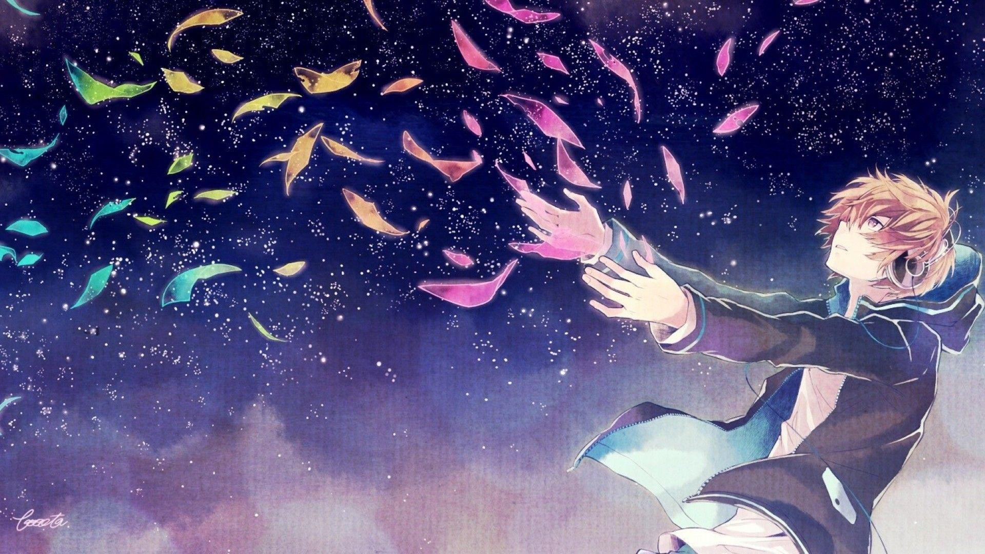 Anime headphones wallpaper Anime background, Anime music