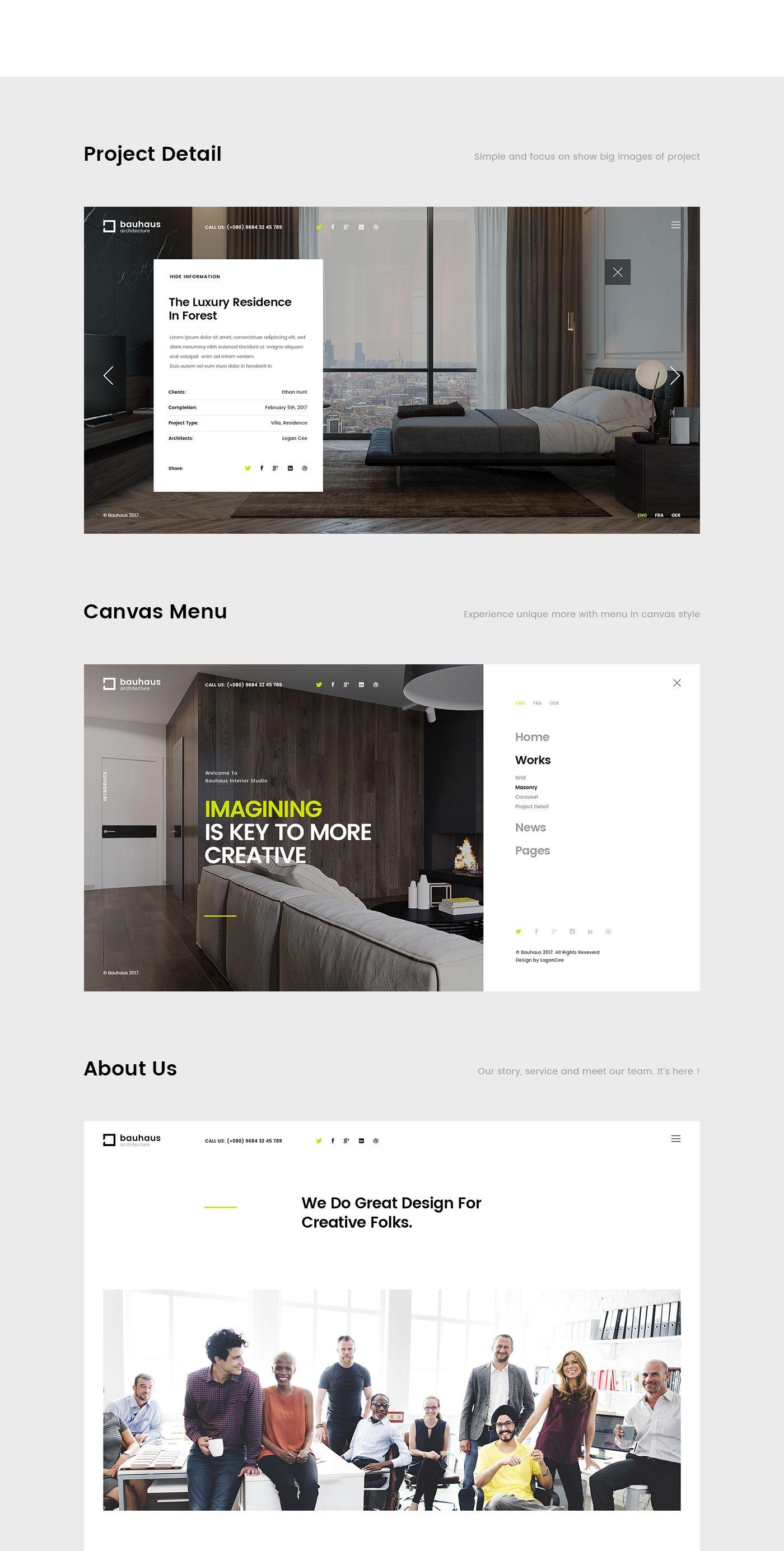 Bauhaus Architecture Studio Website On Behance Bauhaus Architecture Architecture Visualization Bauhaus