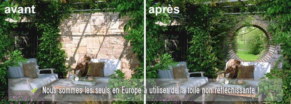 Poster de jardin une bonne id e pour cacher ou habiller for Cacher mur jardin