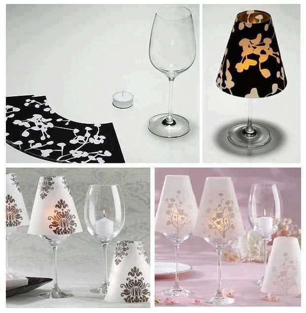 Wine-Glass Candle Lamps