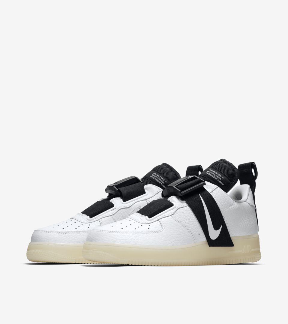 0e6a45389ed Nike Air Force 1 Utility  White   Black  Release Date