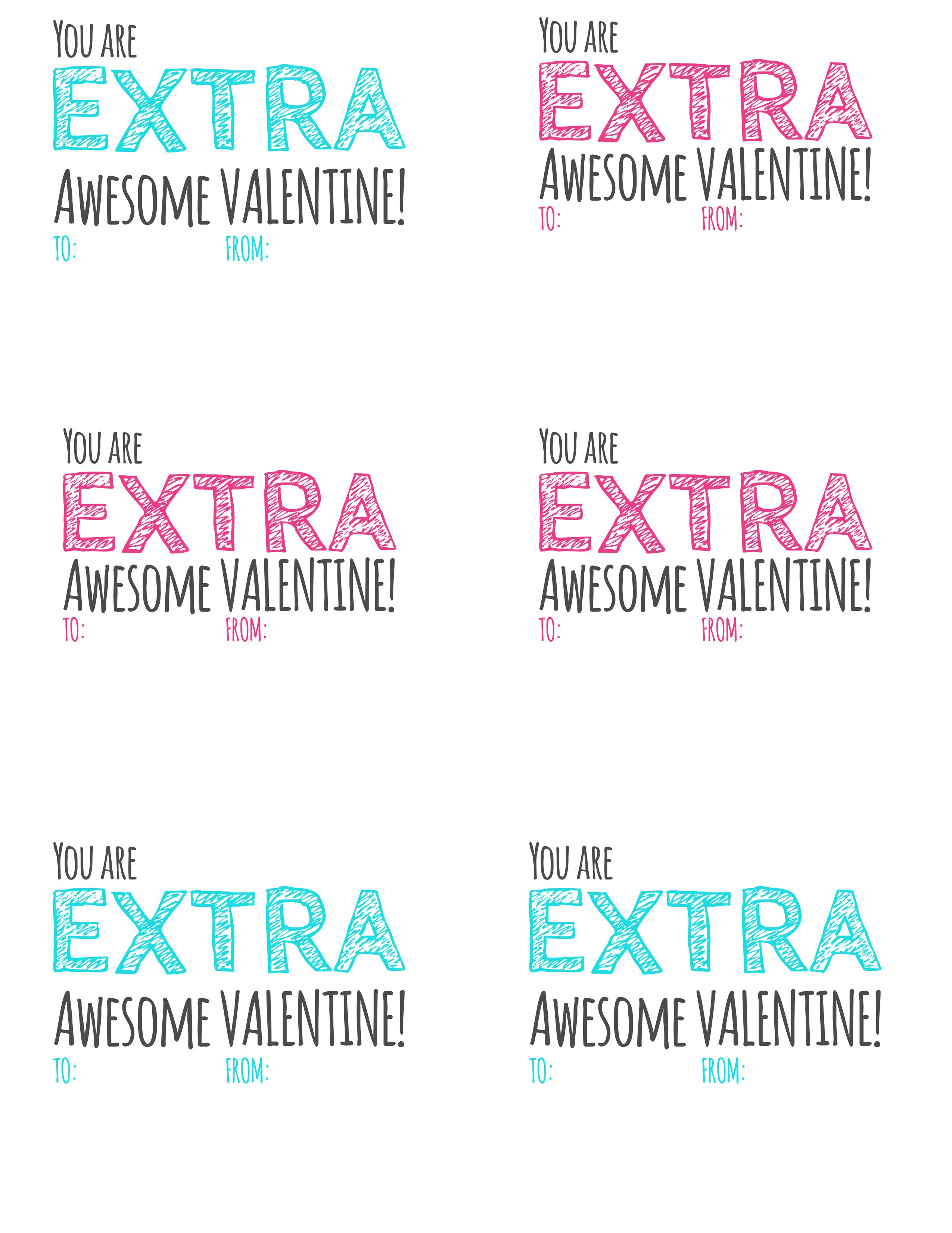 photograph regarding Extra Gum Valentine Printable referred to as Further\