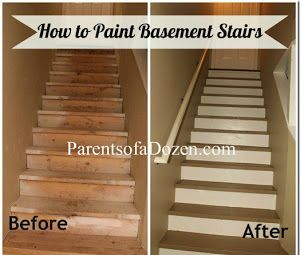 How to Paint Basement stairs....probably the cheapest way to go right now