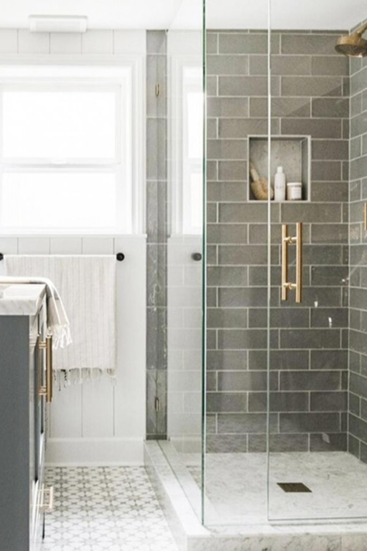 Photo of Santa Monica Gray 4×12 Bathroom Tile Backsplash