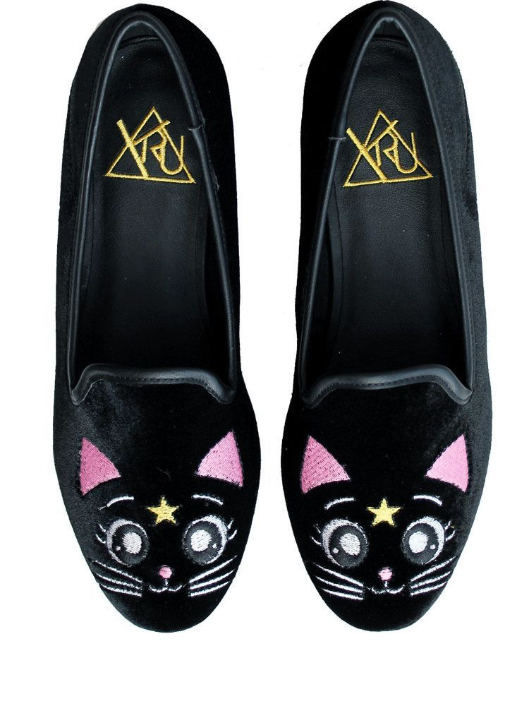 Luna R U Shoes Girl's Black LoafersSailor Moon Y ShoesA Yf7gvbyI6