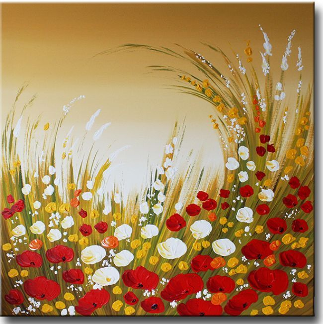 Schilderijen met bloemen of een bloemenveld is bij de for Schilderijen van bloemen