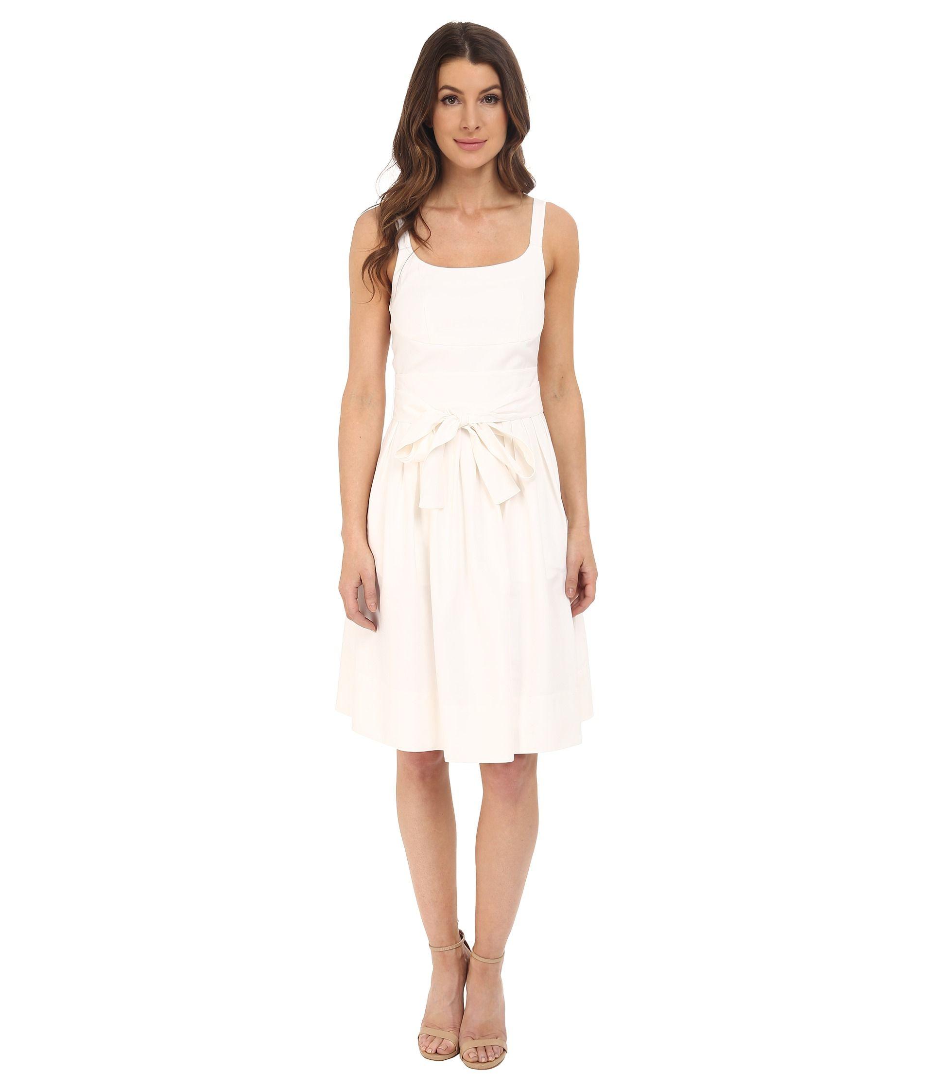 Calvin klein tank dress w bow belt dresses white tank